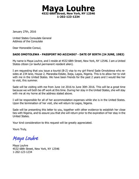 Visa Letter Pdf how to write an invitation letter for us visa b2