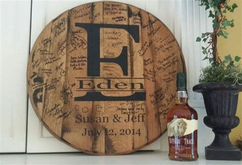 Unique wedding gift ? Personalized whiskey barrel head!