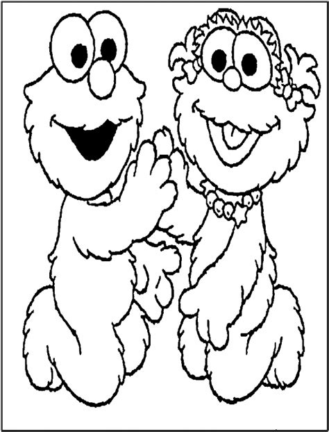 Coloring Page To Print by Free Printable Elmo Coloring Pages For