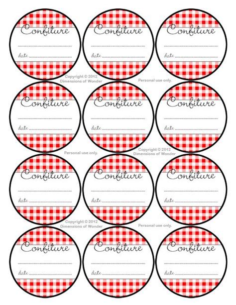 Thermomix Aufkleber Marmelade by French Printable Jelly Jar Labels Free Printables