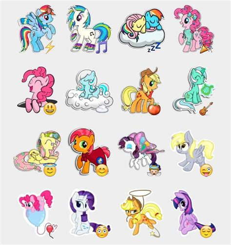 stiker sticker pony my pony stickers set telegram stickers telegram