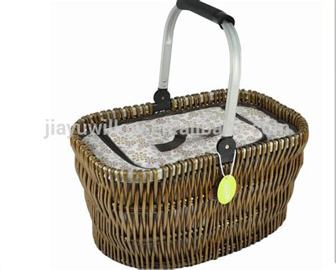 Handmade Picnic Basket - handmade 4 persons grey willow picnic basket picnic basket