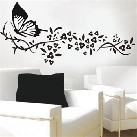 wall stickers for butterfly flower vinyl wall decals wall stickers vinyl wall decals by