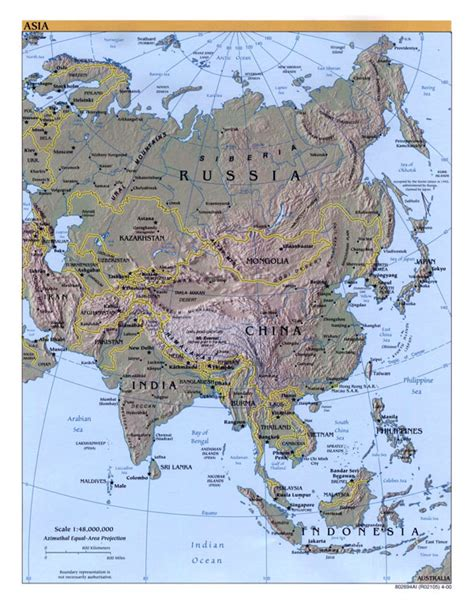 asia map with cities large detailed political map of asia with relief capitals
