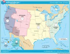 united states map of time zones united states time zones map