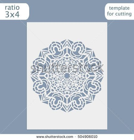 Laser Cut Birthday Card Template by Stock Images Royalty Free Images Vectors