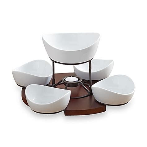 Bed Bath And Beyond Gift Registry B Smith Lazy Susan With Serving Bowls Set Bed Bath Amp Beyond