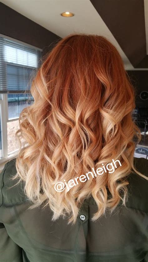 red and blonde hombre pics copper red ombre pravana hairido pinterest copper
