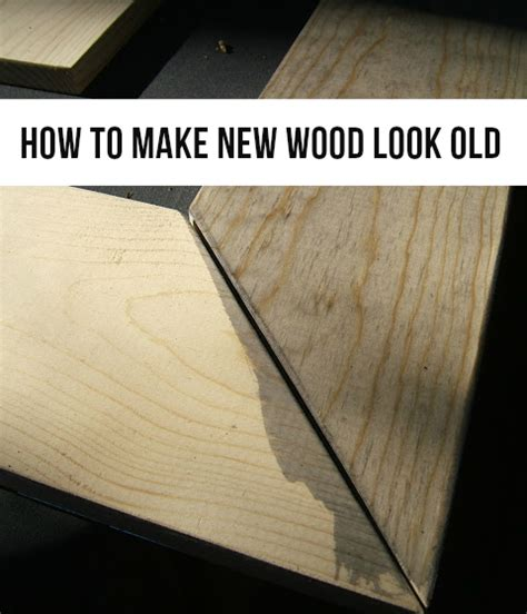 How To Make A Wooden by How To Make New Wood Look The Crafty Frugalista