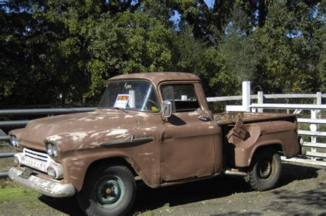 124 Chevy Stepside Brown 1958 apache 3100 stepside truck 6 cyl brown manual gasoline truck rwd 235 classic