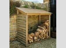 STORE   Wooden Log Store Firewood Storage