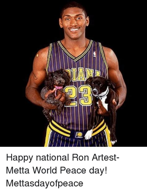 Metta World Peace Meme - happy national ron artest metta world peace day