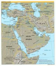 Map Of Middle East by Middle East Physical Map 2004 Full Size