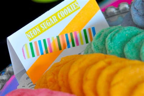 light snacks for party neon party food ideas