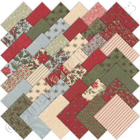 Moda Quilting Fabrics by Moda The Mistletoe Charm Pack Emerald City Fabrics