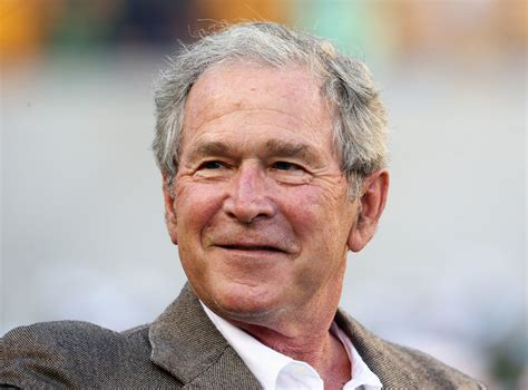 george bush george w bush enjoying new status as smarter bush the new yorker