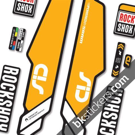 Rock Shox Stickers Orange by Rockshox Sid 2014 Stickers Kit Black Forks