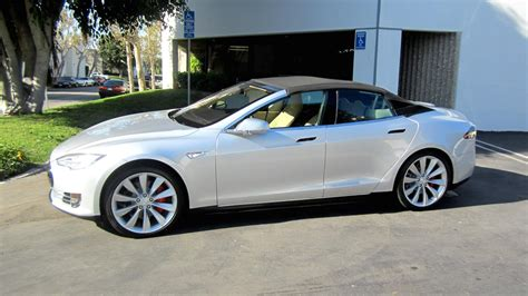 Convertible Tesla Model S Tesla Model S Convertible Test Drive Review