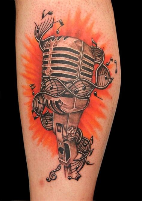 Pinterest Tattoo Music | truly sensational microphones and music notes tattoos