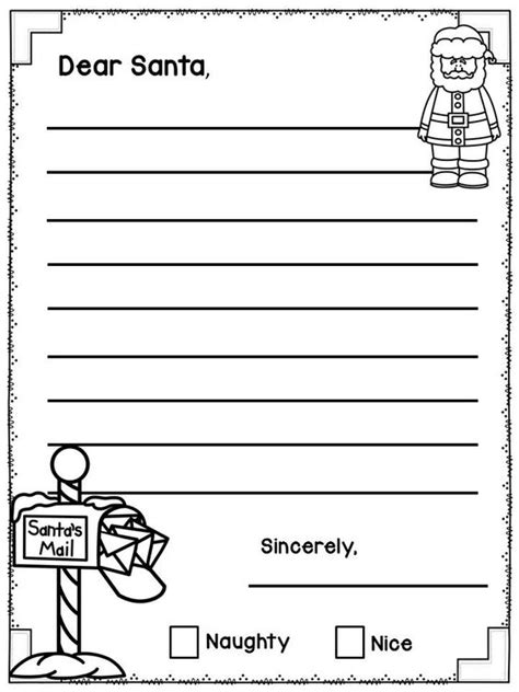 Letter Writing Template Dear Santa And Writing On Pinterest Dear Letter Template