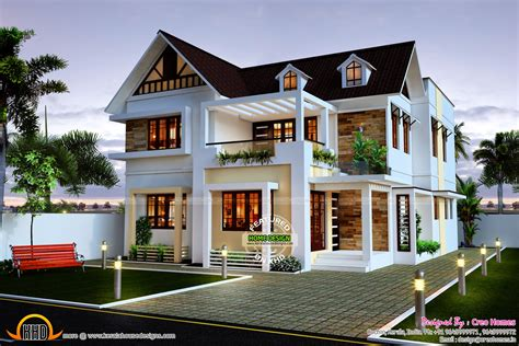 wow house design very beautiful 4 bedroom home kerala home design and floor plans