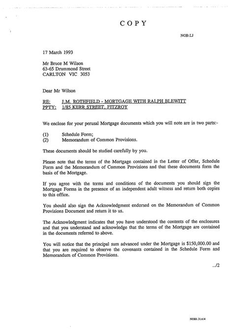 Mortgage Offer Letter What Next The Awu More Documents Sent Only To Wilson Michael Smith News