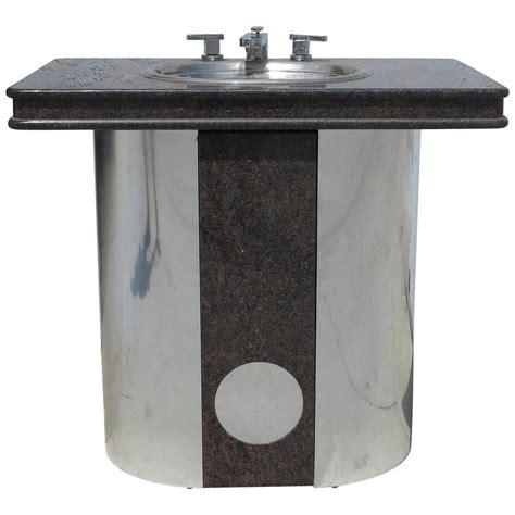 Vintage Bathroom Fixtures For Sale Vintage Sherle Wagner Vanity Sink Black Granite Top With Stainless Steel Base For Sale At 1stdibs