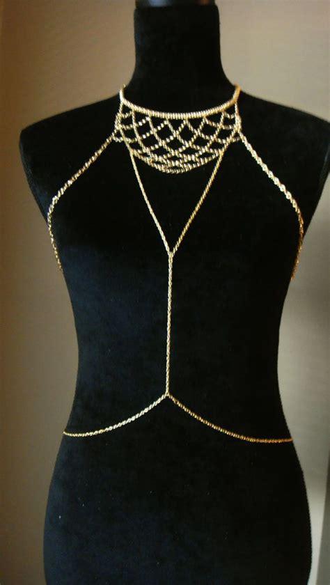 chain harness bohemian gold chain harness chains jewelry chain ha