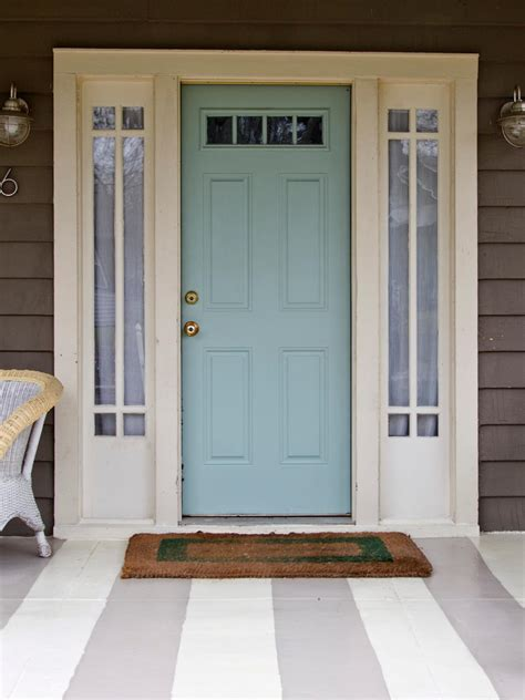 Entry Door Colors | popular colors to paint an entry door installing
