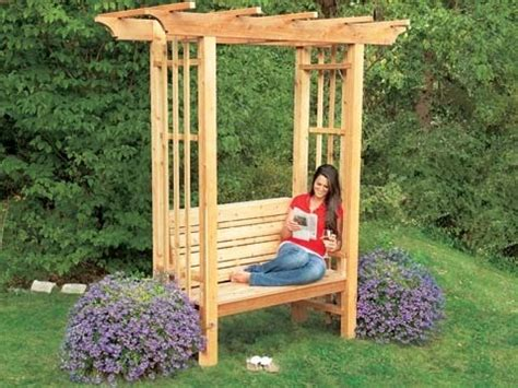 homemade wood desk backyard arbor how to build an arbor bench this old house youtube