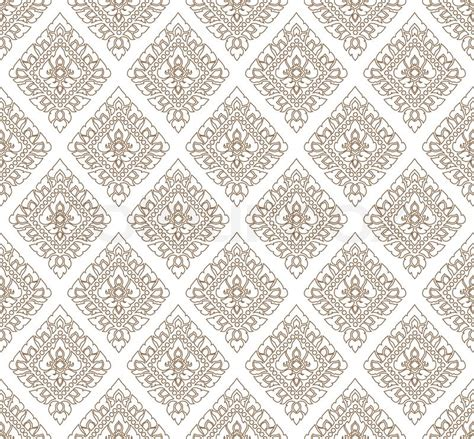 thai pattern background vector complementary line thai art background vector illustration
