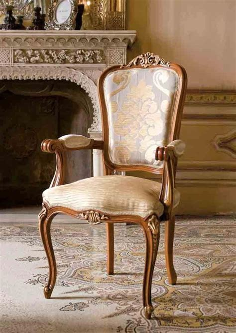 armchair classic classic chair head of the table in wood for luxury