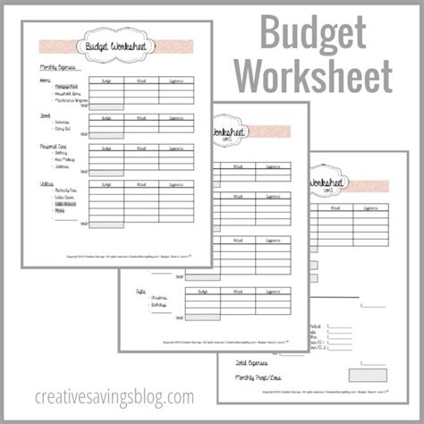 apartment budget building your first budget worksheets budgeting and