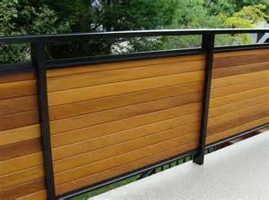 dek rail privacy guardrails with aluminum frame and horizontal 1 x 4 cedar infill panels