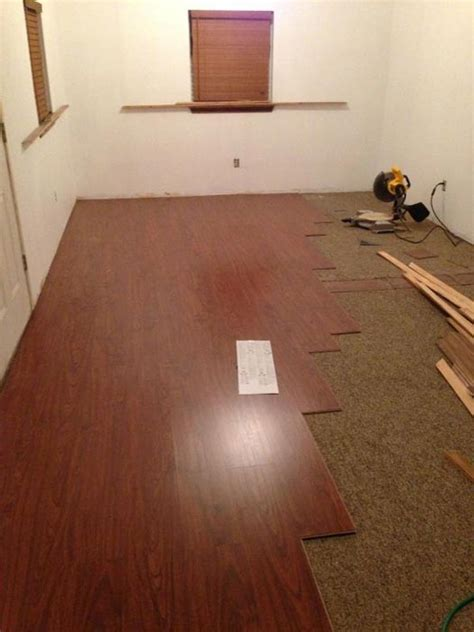 lay laminate flooring on top of carpet   Your New Floor