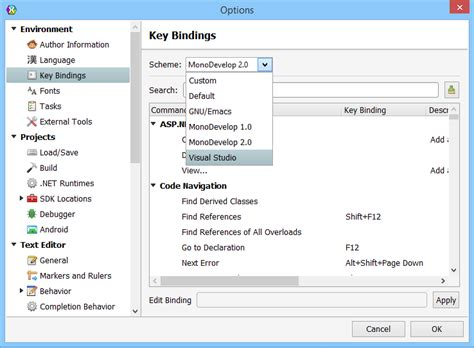 reset visual studio settings command line xamarin studio settings for visual studio developers