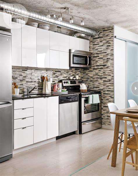 kitchen backsplash toronto interior stylish and functional downtown condo open concept
