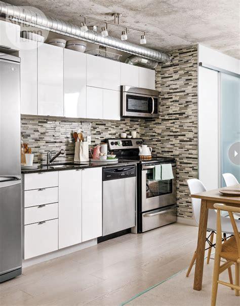 Kitchen Backsplash Toronto Interior Stylish And Functional Downtown Condo Open Concept
