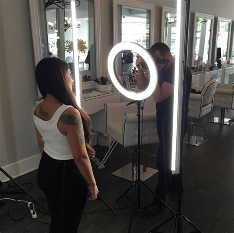 photo booth stand with light stellar 2 linear light panel 1 ring light 18 quot 3