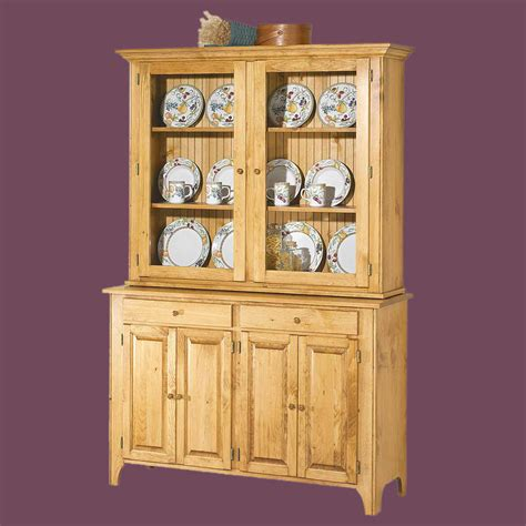 Hutch Only hutch top unfinished pine walden glass hutch top only
