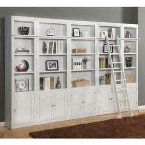 Parker house boca inset library wall bookcase cottage white