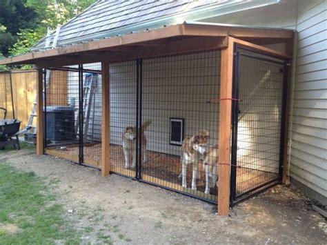 kennel ideas kennels inside outside and garage on