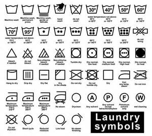 Tumble Dryer Signs On Clothes Laundry Symbols