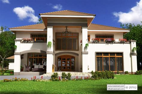5 bedroom house 5 bedroom house plan id 25702 house plans by maramani