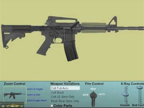 how an m16 works: full auto cutaway, see the insides