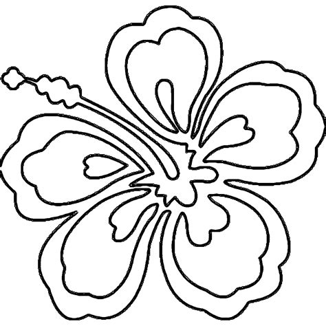 Coloring Page Hawaii by Hawaiian Coloring Pages Hawaii Flower Coloring Page Az