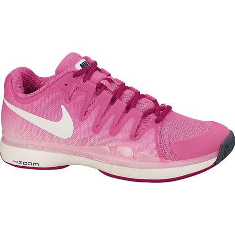 nike womens zoom vapor 9 5 tour tennis shoes pink ivory
