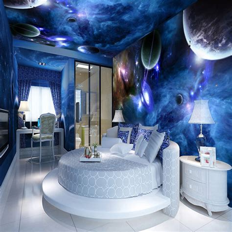 space bedroom custom 3d stereo wallpaper living room bedroom suspended