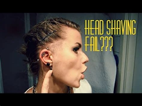 hair cuts that are shaved on both sides and long on the top for women head shaving fail youtube