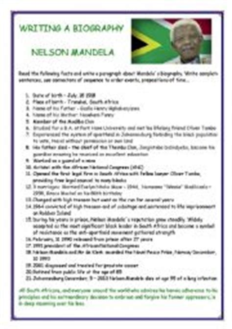 nelson mandela esl biography english worksheets